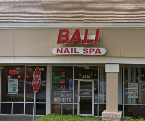TiệmBali Nail Spa ở thành phố Lutz, bang Florida. Ảnh:Google Maps