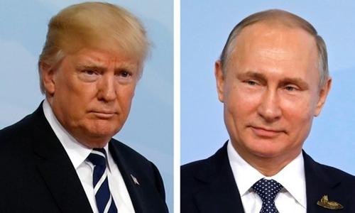 Tổng thống Mỹ Trump, trái, và Tổng thống Nga Putin. Ảnh: Reuters.