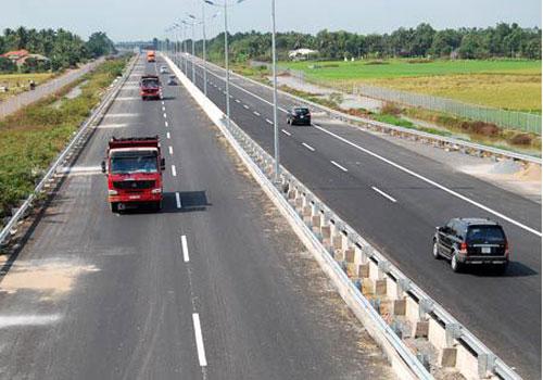Cao tốc Trung Lương - Mỹ Thuận kết nối với cao tốc TP HCM - Trung Lương. Ảnh: Xuân Hoa.