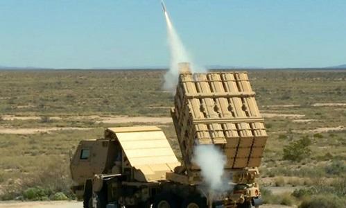 Một tên lửa MHTK được bắn thử vào tháng 4/2016. Ảnh: Army Technology.