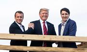 Trump chỉ trích truyền thông giả dối, đăng ảnh vui vẻ cùng lãnh đạo G7