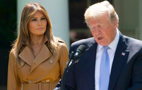 Ông Trump và bà Melania tại sự kiện ở Nhà Trắng hồi tháng 5, trước khi đệ nhất phu nhân mổ thận. Ảnh: AFP
