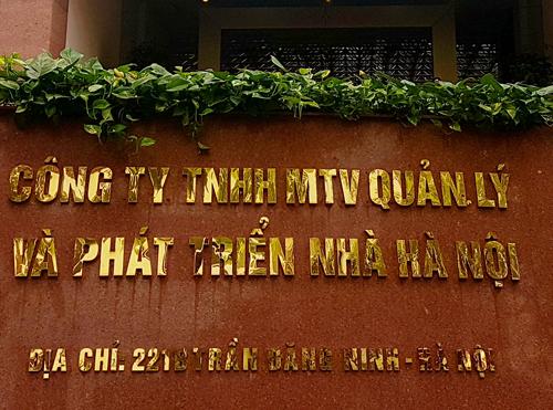 Một số cán bộ của Công ty quản lý phát triển nhà Hà Nội đã bị khởi tố. Ảnh: Võ Hải.