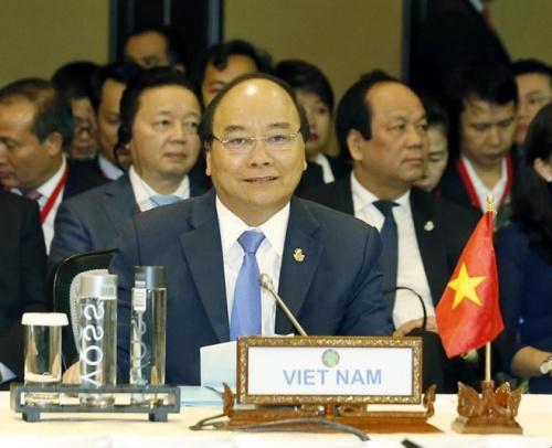 Thủ tướng Nguyễn Xuân Phúc dự Hội nghị Cấp cao CLMV lần thứ 9. Ảnh:TTXVN
