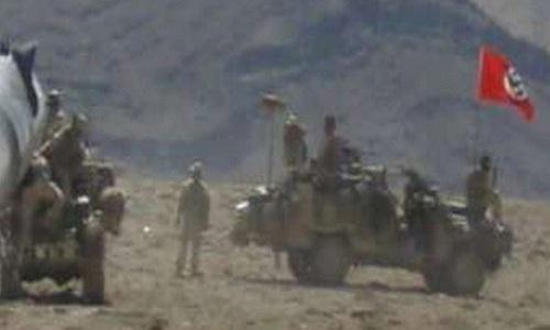 Cờ phát xít Đức được treo trên xe quân sự của Australia tại Afghanistan năm 2007. Ảnh: ABC News.
