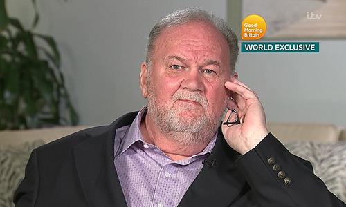Ông Thomas, 73 tuổi, hôm nay xuất hiện trong chương trình Good Morning Britain của ITV