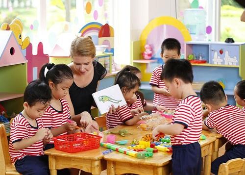 Một góc không gian học của các bé mầm non tại Hệ thống trường quốc tế song ngữ học viện Anh Quốc - UKA