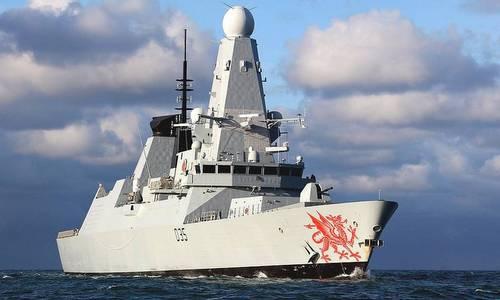 Tàu HMS Dragon trong một lần ra biển năm 2016. Ảnh: AFP.