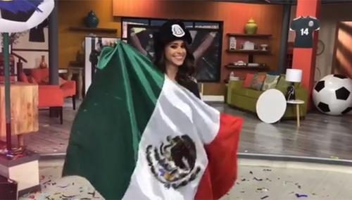 Garcia chúc mừng chiến thắng của Mexico. Ảnh: Instagram
