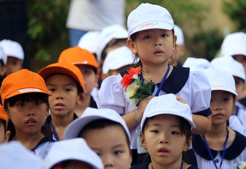 Học sinh trường Tiểu học Nguyễn Bỉnh Khiêm (quận 1, TP HCM). Ảnh: Quỳnh Trần.