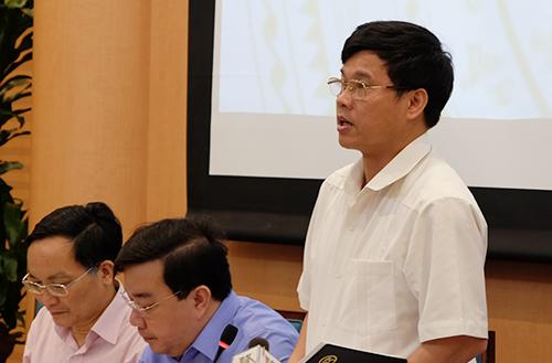 Trưởng ban chỉ đạo thi THPT quốc gia 2018 của Hà Nội - Phó chủ tịch UBND thành phố Ngô Văn Quý. Ảnh: Quỳnh Trang.