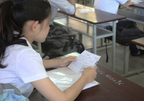 Sau ngày 20/4, thí sinh không được thay đổi điểm thi và thông tin về bài thi, môn thi đã đăng ký. Ảnh minh họa: Đ.H.