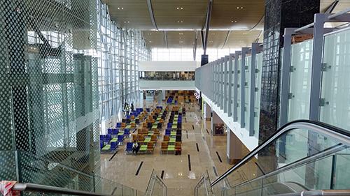Bên trong sân bay được trang bị hiện đại, kỳ vọng đón khoảng 4 triệu lượt khách mỗi năm. Ảnh: Xuân Ngọc