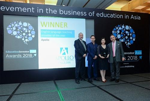 Bà Lê Thị Kim Chi (thứ 2 từ phải sang) tại lễ trao giải EducationInvestor Asia Awards 2018