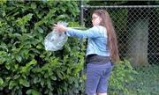 Cô bé Anh đi nhặt rác quanh phố mỗi ngày