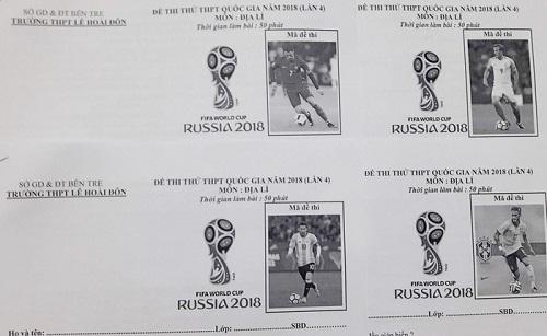 Mã đề thi hưởng ứng World Cup 2018.