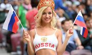 Nữ cổ động viên Nga quyến rũ nhất World Cup là sao phim khiêu dâm