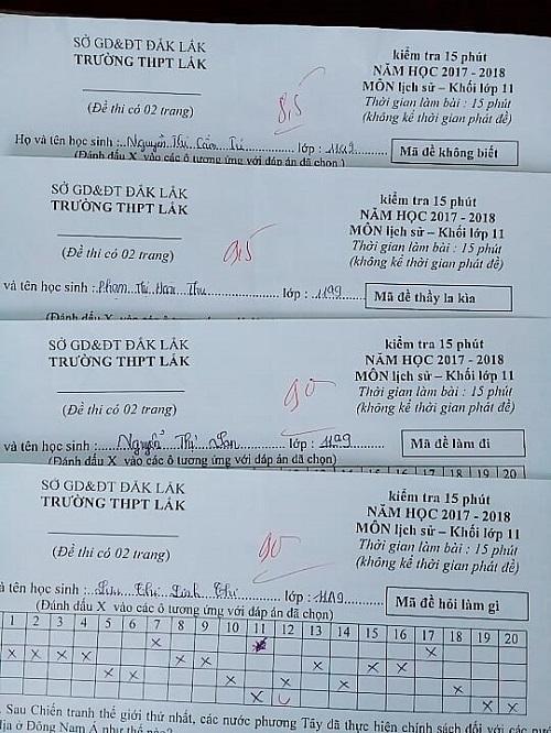 Một loạt tên mã đề hài hước của giáo viên.