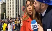 Nữ phóng viên bị cưỡng hôn trong bản tin trực tiếp về World Cup
