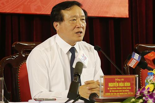 Chánh án TAND tối cao Nguyễn Hoà Bình. Ảnh: Phạm Dự.
