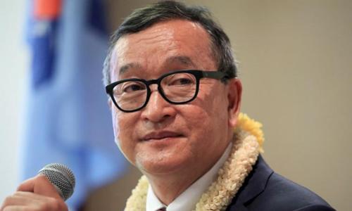Cựu thủ lĩnh đảng đối lập Sam Rainsy. Ảnh: Reuters.
