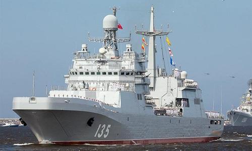 Một tàu tấn công đổ bộ Ivan Gren của hải quân Nga. Ảnh: Military.