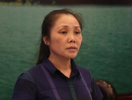 Bà Vi Thị Bình Anh, phó Chủ tịch UBND huyện Sóc Sơn. Ảnh: Gia Chính.