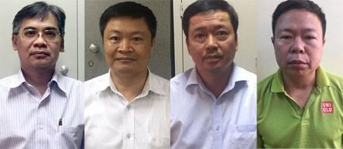 Từ trái qua phải, lần lượt là các ông TừThành Nghĩa, Đinh Văn Ngọc, Võ Quang Huy và Nguyễn Tuấn Hùng.
