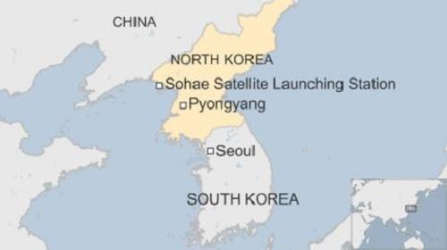 Bãi thử Sohae nằm ở phía tây Triều Tiên. Đồ họa: BBC.