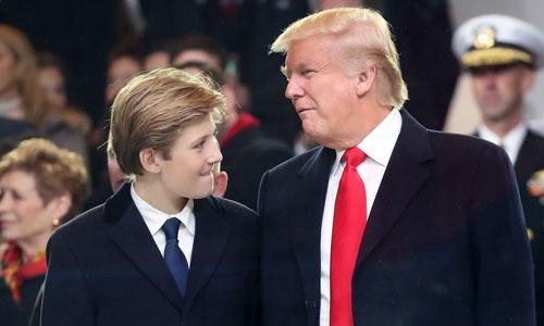 Barron Trump là con trai út của Tổng thống Mỹ Donald Trump. Ảnh: AFP.