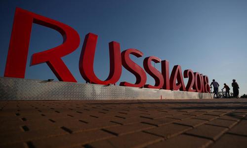Bảng hiệu chào mừng World Cup 2018 tại thành phố Sochi, Nga. Ảnh: Reuters.