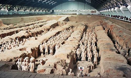 Lăng mộ của Tần Thủy Hoàng nằm ở chân núi Ly Sơn, thành phố Tây An, tỉnh Thiểm Tây, Trung Quốc. Ảnh: AP.
