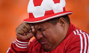 Cổ động viên Peru khóc nức nở vì đội tuyển bị loại ở World Cup