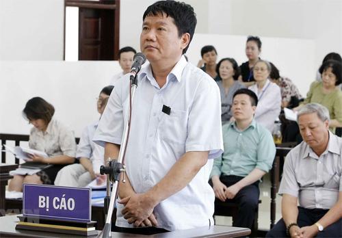 Ông Đinh La Thăng trong phiên tòa phúc thẩm. Ảnh: TTXVN