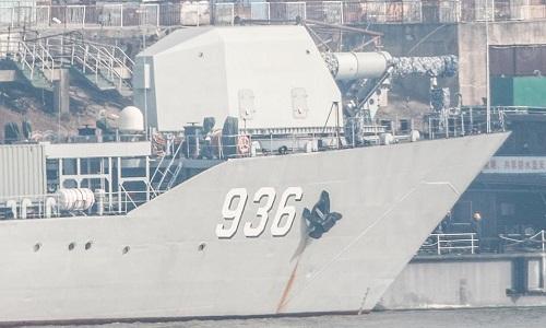 Hình ảnh pháo điện từ trên tàu đổ bộ lớp Type 072 của Trung Quốc lan truyền trên mạng xã hội nước này hồi tháng 2. Ảnh:Twitter.