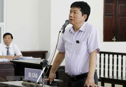 Ông Đinh La Thăng tại phiên tòa phúc thẩm. Ảnh: TTXVN