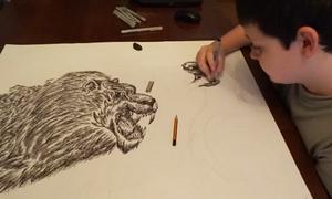 Biệt tài vẽ động vật không nhìn mẫu của thần đồng 15 tuổi