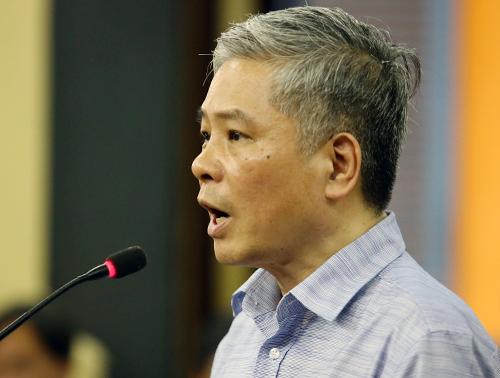Ông Đặng Thanh Bình tại toà hôm nay. Ảnh: Thành Nguyễn.