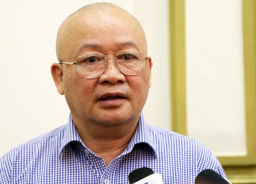 Ông Nguyễn Tăng Cường, chủ đầu tư máy bơm chống ngập tại đường Nguyễn Hữu Cảnh, người từng được Chủ tịch nước phong tặng giải thưởng Hồ Chí Minh về khoa học công nghệ năm 2011. Ảnh: Hữu Nguyên.