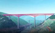 Trung Quốc xây cầu giàn thép cao nhất thế giới
