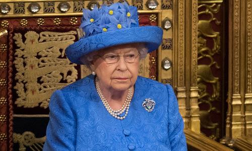 Nữ hoàng Anh trong buổi họp quốc hội tháng 7/2017. Ảnh: AFP.