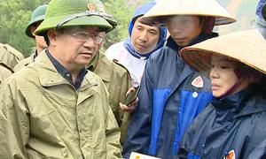 Phó thủ tướng Trịnh Đình Dũng thị sát mưa lũ ở Lai Châu