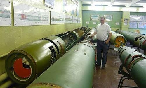 Một mẫu ngư lôi cỡ lớn650 mm 65-76 của Nga. Ảnh:Weaponsystems.net.