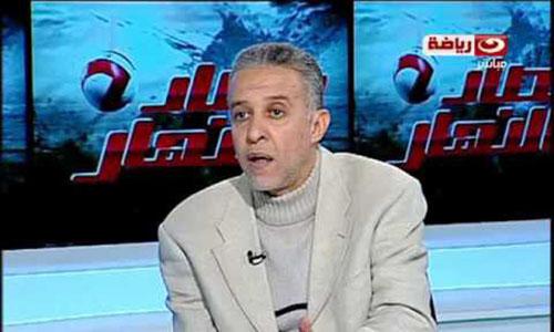 Abdel Rahim Mohamed bình luận các trận đấu trên kênh Nile Sport. Ảnh: Twitter.