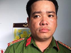 Đại uý cảnh sát dỏm Nguyễn Hoàng Hôn. Ảnh: Công an cung cấp.