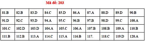 Đáp án 24 mã đề thi Sinh học THPT quốc gia - 2