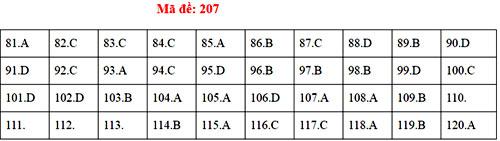 Đáp án 24 mã đề thi Sinh học THPT quốc gia - 6