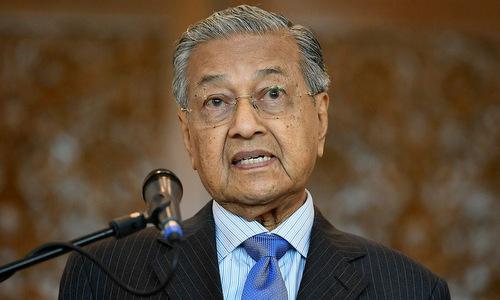 Thủ tướng Mahathir phát biểu hồi cuối tháng 5. Ảnh: AFP.