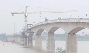 Cầu Việt Trì - Ba Vì bắc qua sông Hồng sắp thông xe