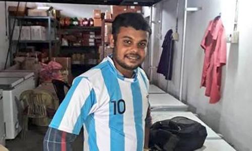 Dina Alex là một fan cuồng của tuyển thủ Argentina mang áo số 10 Lionel Messi. Ảnh: Barca Times